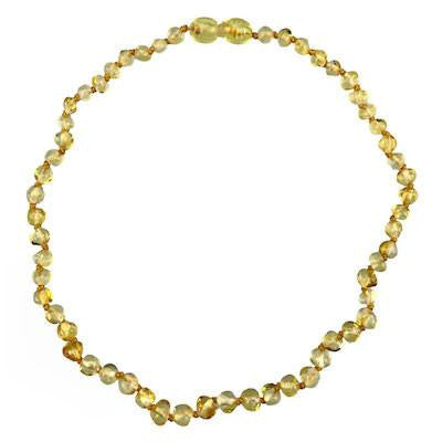 Charlie Banana Amber Beads Necklace - Baroque Polish Lemon