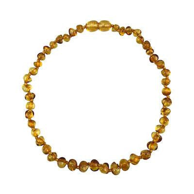 Charlie Banana Amber Beads Necklace - Baroque Polish Honey