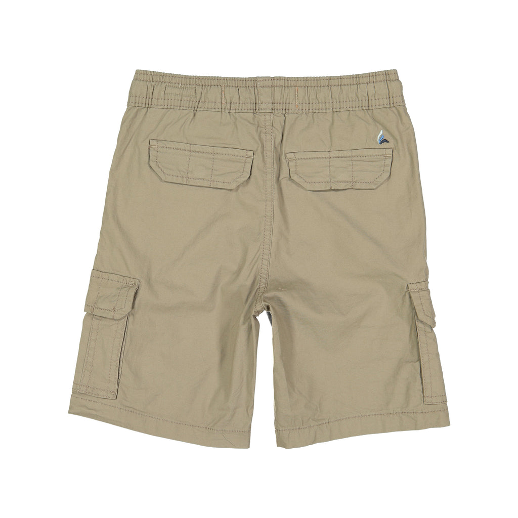 Tailor Vintage -Stretch Poplin Pull-on Cargo Shorts (Khaki)