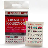 Poppy Drops Temporary Tattoo Pierce -Free Earrings