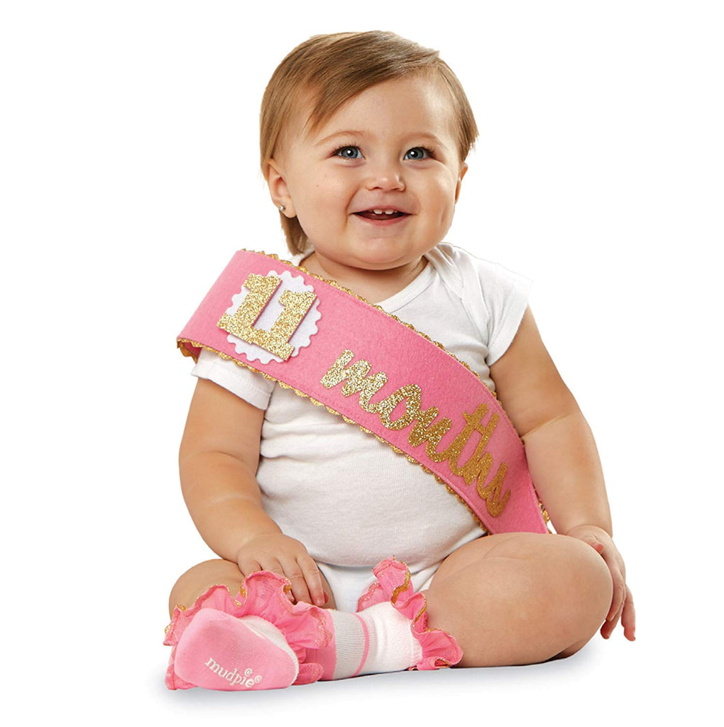 Mud Pie Felt Monthly Sash