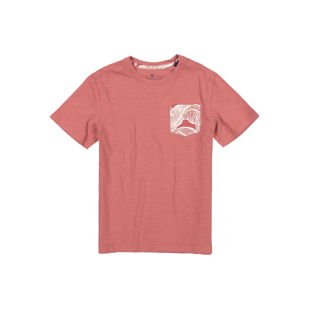 Tailor Vintage Jersey Pocket Tee With Bandana-Canyon Red