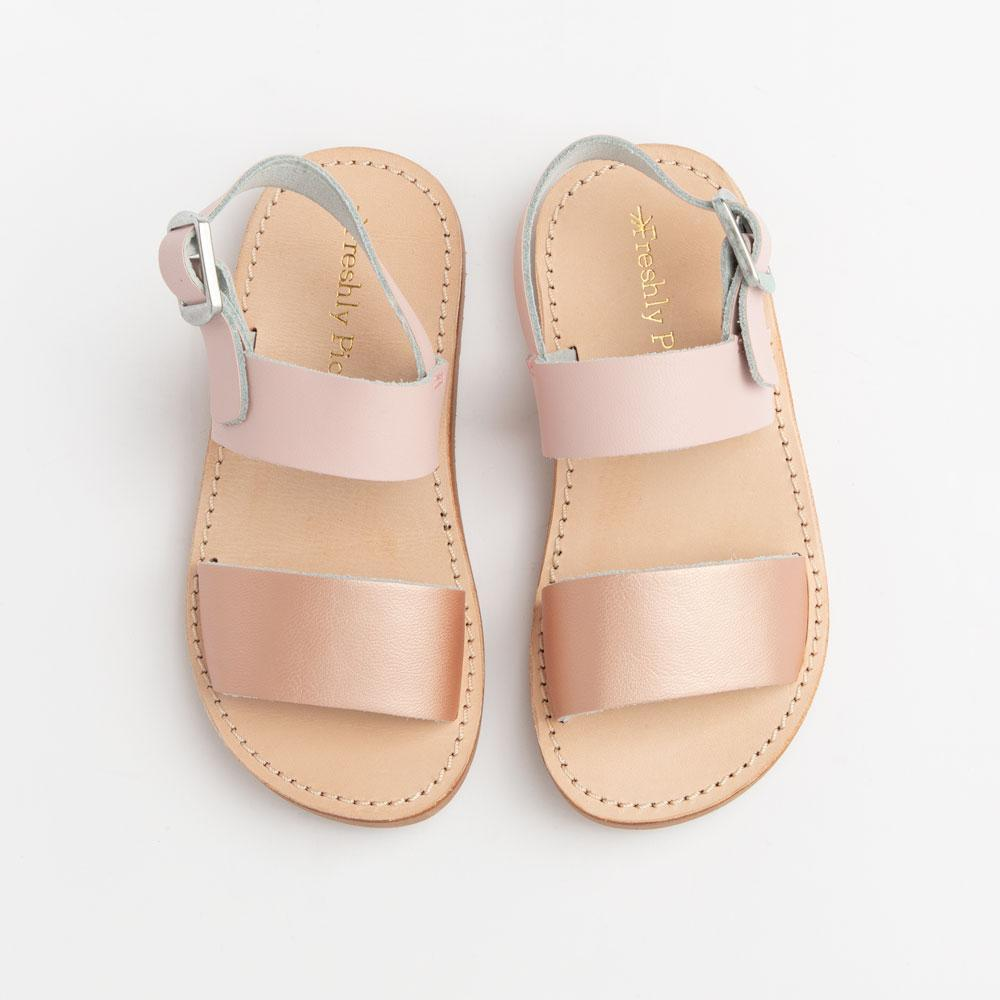 Freshly Picked Sanibel Sandal - Rose Gold with Blush