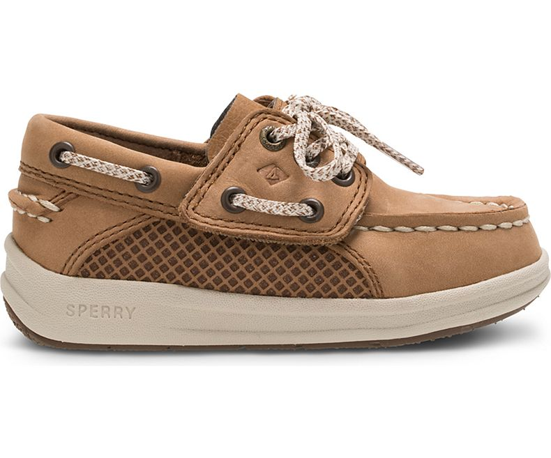 Sperry Kids Gamefish Boat Shoe - Dark Tan