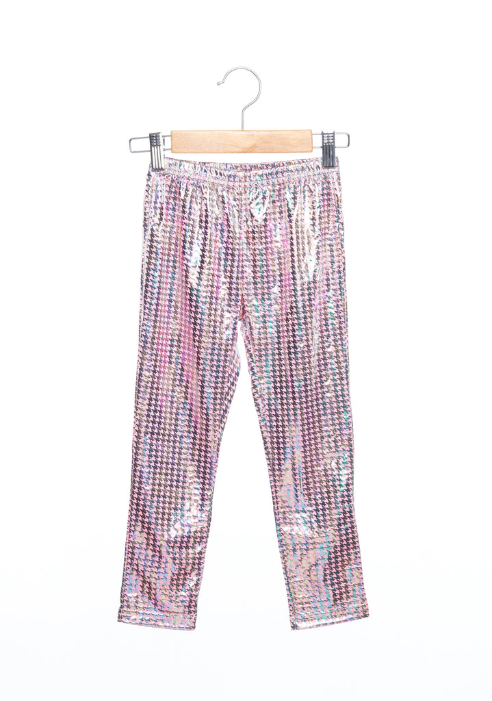 Siaomimi Play Party Leggings - Pink Shiny Houndstooth