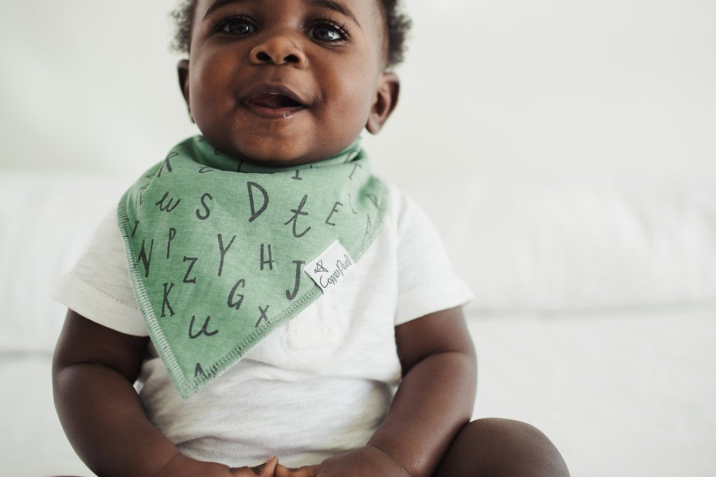 Copper Pearl Chip Baby Bandana Bib Set