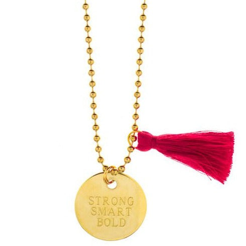 "Gunner & Lux ""Strong Smart Bold"" Necklace"