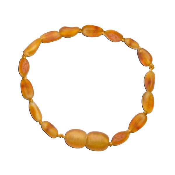 Amber Teething Bracelet -Honey unpolished