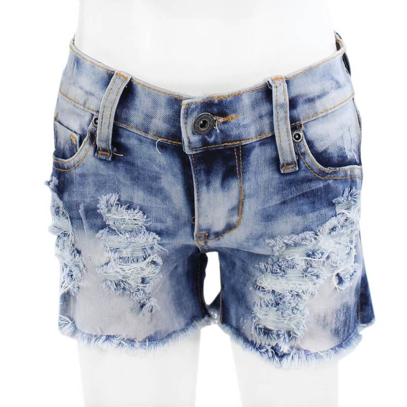 Play Six Bleach Dyed Denim Shorts