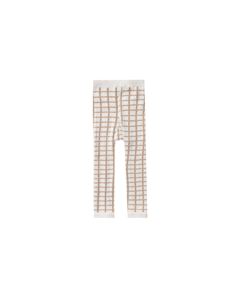 Rylee + Cru Knit Leggings - Bronze Grid