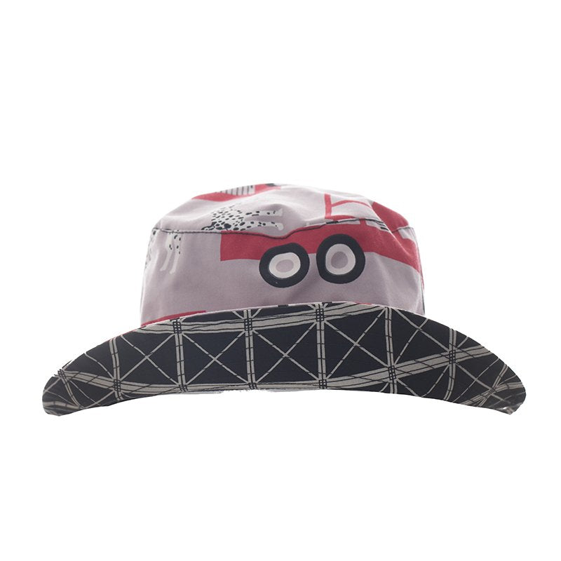 Kickee Pants Print Reversible Bucket Hat - Feather Firefighter / Midnight Infrastructure