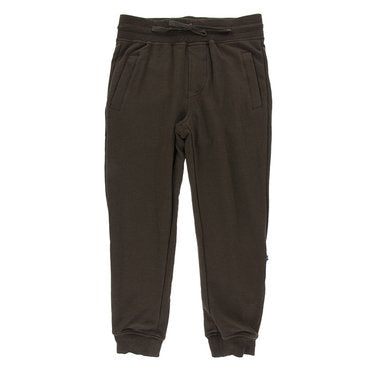 Kickee Pants Solid Footie with Snaps - Bark with Shore Paleontology