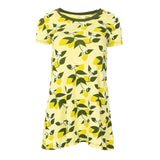 Kickee Pants Women's Print Short Sleeve Tee Shirt Tunic - Lime Blossom Lemon Tree