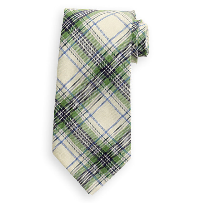 Bella Bliss Boy's Tie - Carrington Plaid