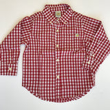 Hoonana Red Checker Dress Shirt