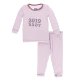 Kickee Pants Applique Pajama Set - Thistle 2019 Baby