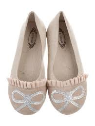 JOY FOLIE Girls' Pippa Glitter Flats - Almond