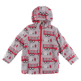 Kickee Pants Print Sherpa-Lined Raincoat - Feather Firefighter Everyday Heroes