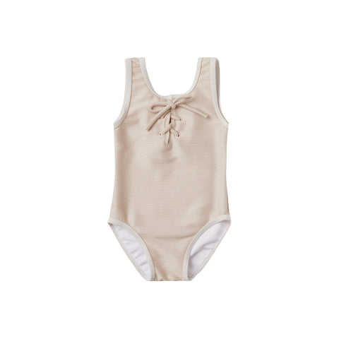 Rylee + Cru Lemons Frill One Piece Swimsuit - Ivory