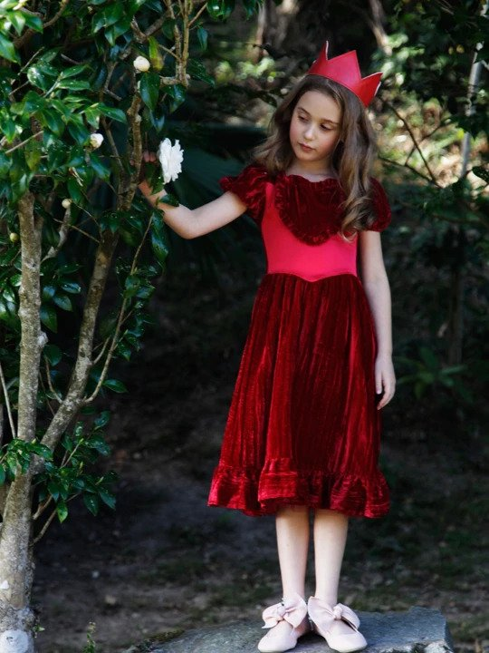Siaomimi Play Queen of Hearts Dress - Red Velvet