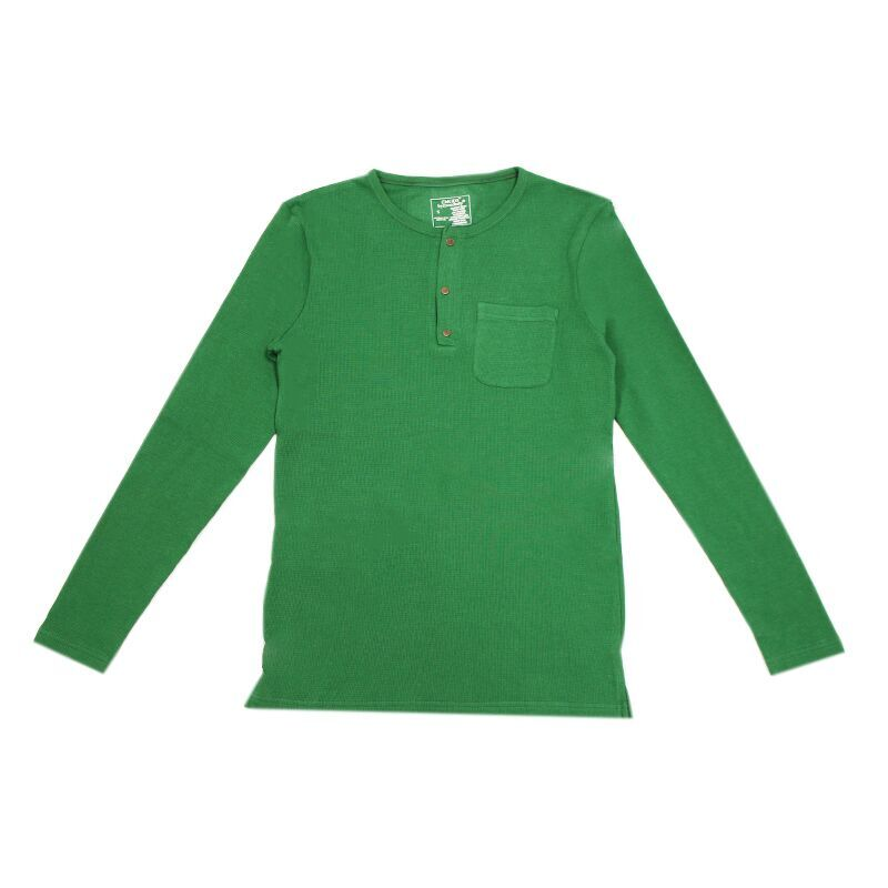 L'ovedBaby Organic Thermal Men's Long Sleeve Shirt - Emerald