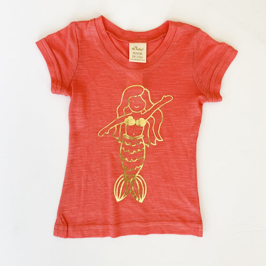 Oh Baby! Mermaid Girl Foil Tee