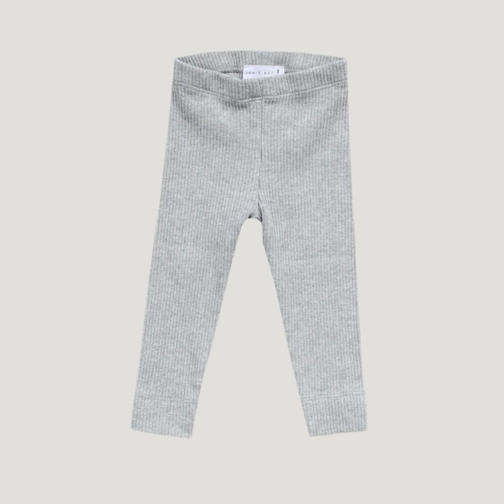 Jamie Kay Cotton Modal Legging - Light Grey Marle