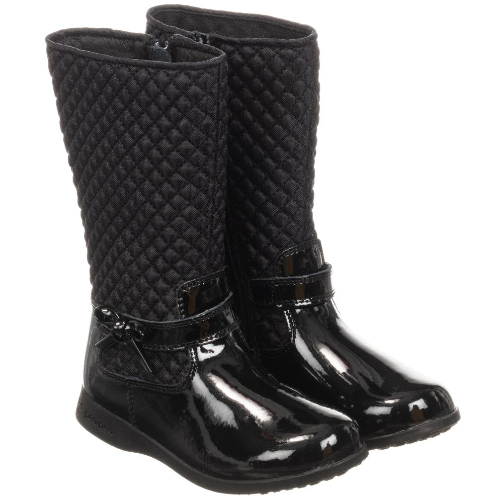 Pediped Leather Naomi Boots - Black