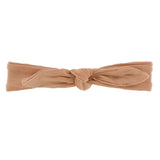 Kickee Pants Solid Bow Headband Small - Suede 1st Delivery