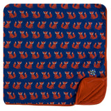 Kickee Pants Print Toddler Blanket - Navy Fox