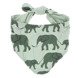 Kickee Pants Print Dog Bandana - Aloe Elephant 1st Delivery