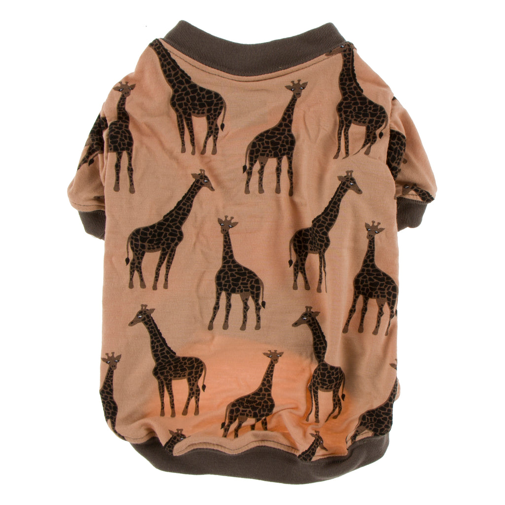 Kickee Pants Print Dog Tee - Suede Giraffe 1st Delivery