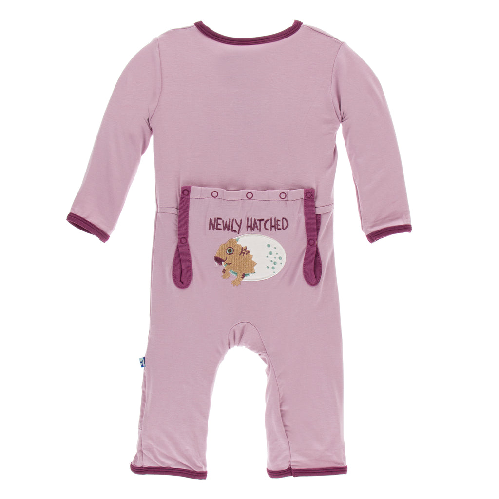 Kickee Pants Applique Coverall with Zipper - Sweet Pea Diictodon Paleontology