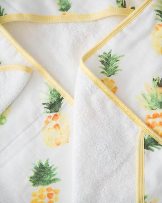 Little Unicorn Hooded Towel Set - Pineapple