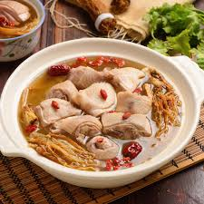Ginseng Chicken soup with Jujube and wolfberries