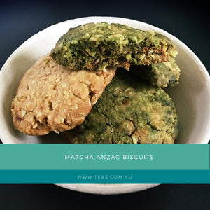 Matcha Anzac Biscuits