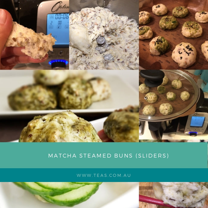 Matcha Steamed Buns (Sliders)