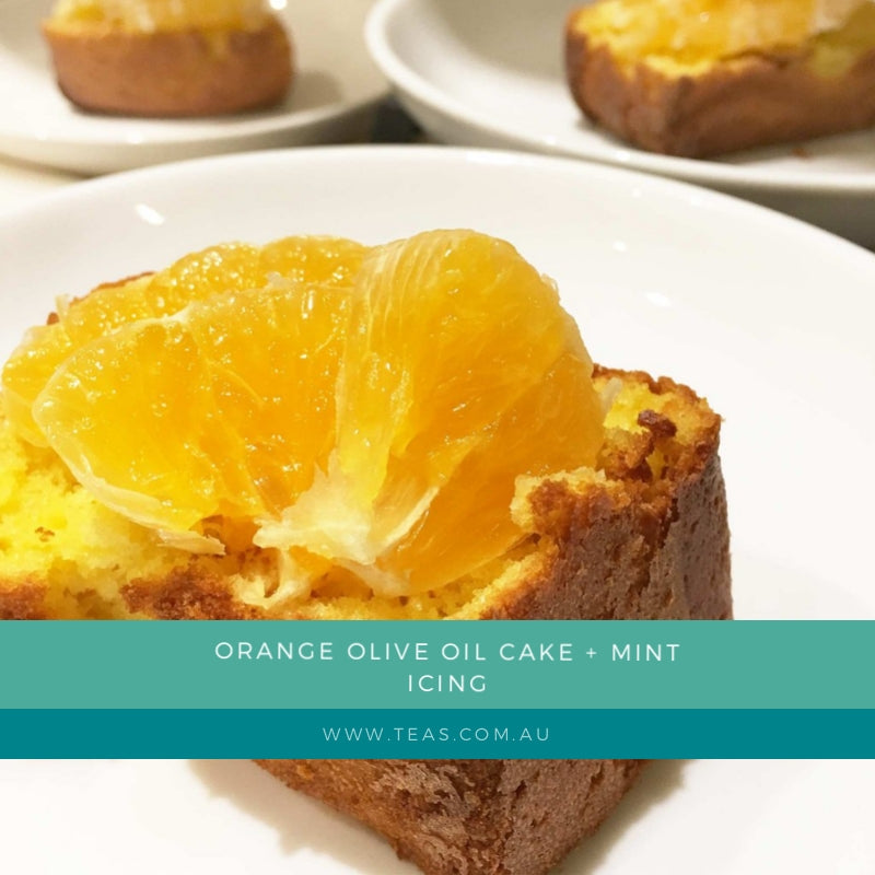 Orange Olive Oil Cake + Mint Icing