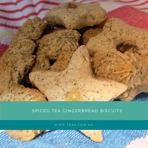 Spiced Tea Gingerbread Biscuits
