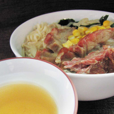 Noodles with Jasmine Green tea broth