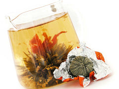 spring blossom bouquet tea ball