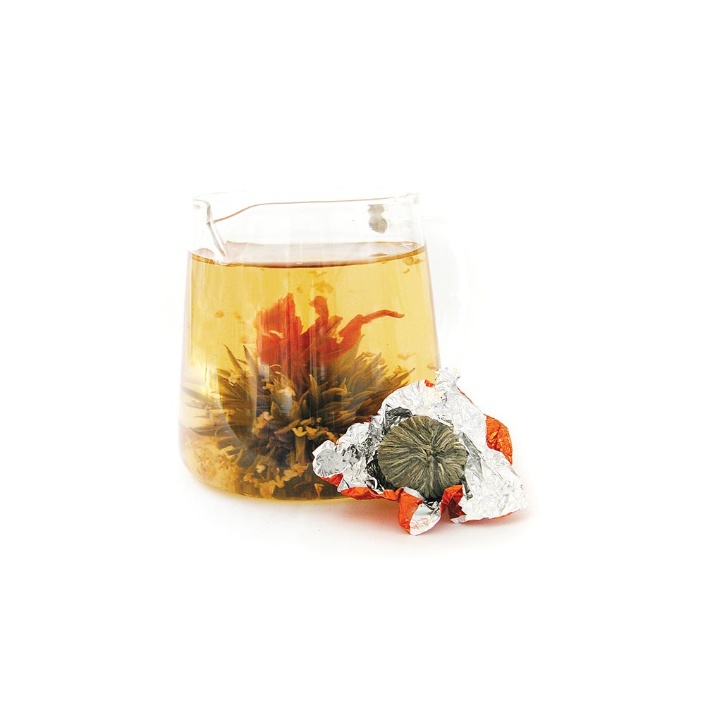 Spring blossom bouquet blooming tea ball