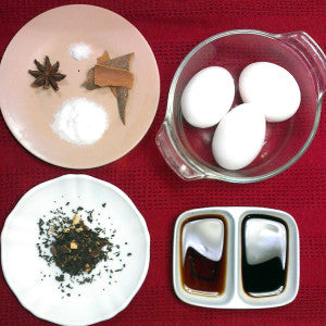 Chinese Tea Puerh Eggs Ingredients