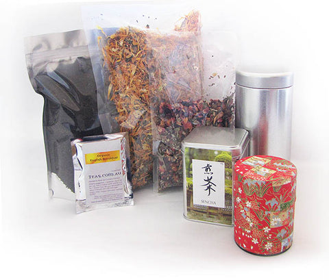 Teas.com.au packaging samples