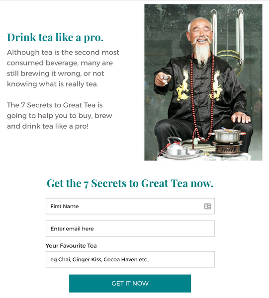 Sign up to 7 Secrets to Great Tea