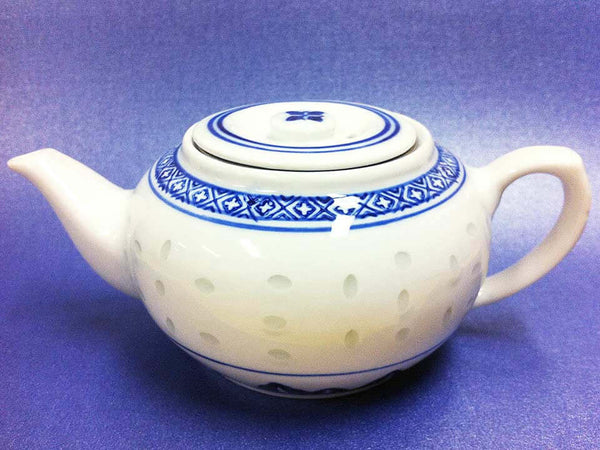 Blue Rice Teapot - 100% Natural Leaf Tea - Teas.com.au