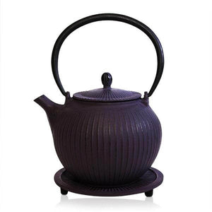 Purple Cast Iron Teapot - 800ml