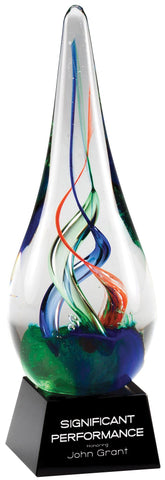 Art Glass 12 Raindrop Swirl 7.5""