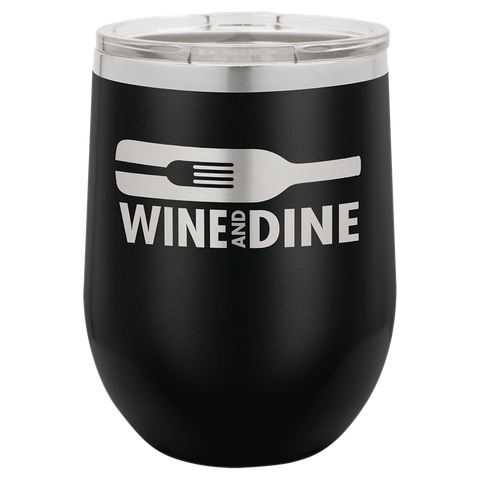 Wine Stemless Black