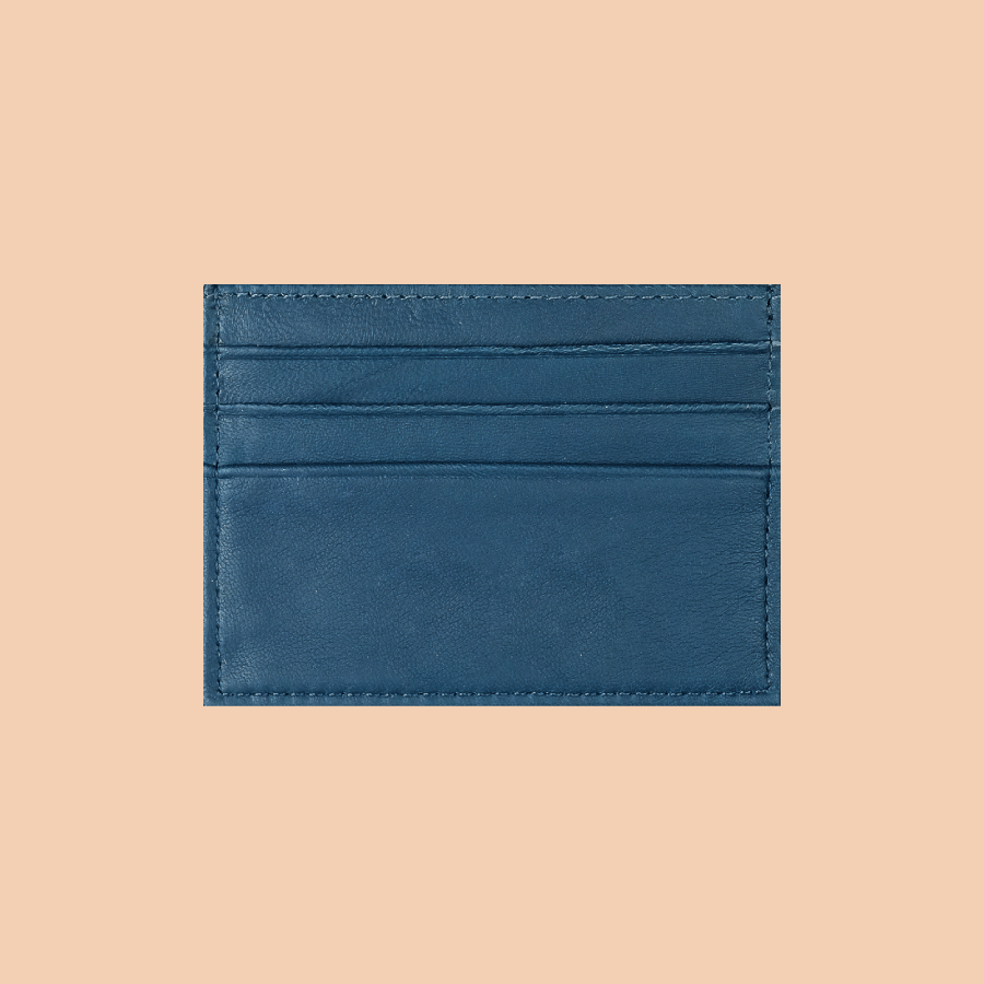 Navy Blue Flat Cardholders